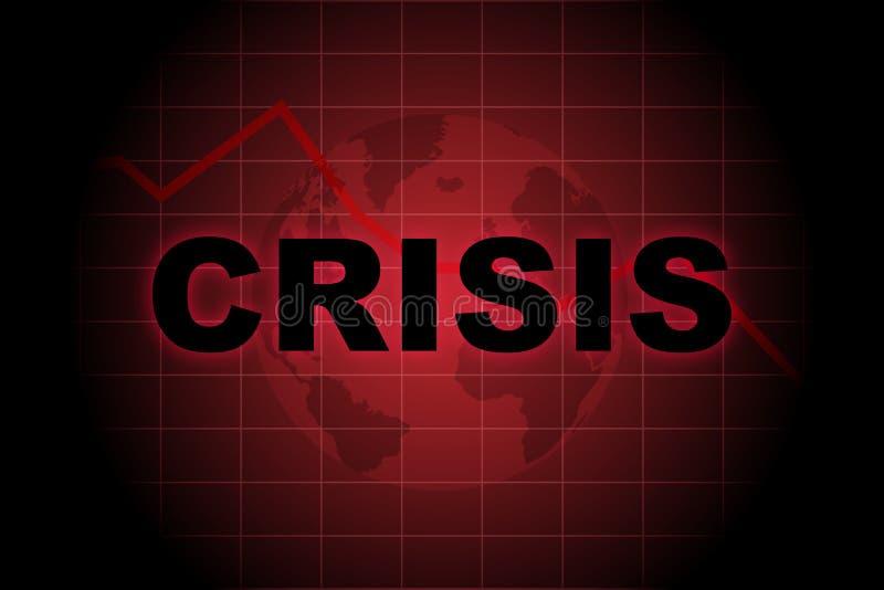 Globale Krise stock abbildung