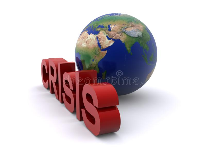 Globale Krise lizenzfreie abbildung