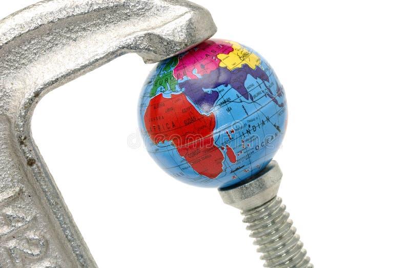 Globale Krise lizenzfreie stockbilder