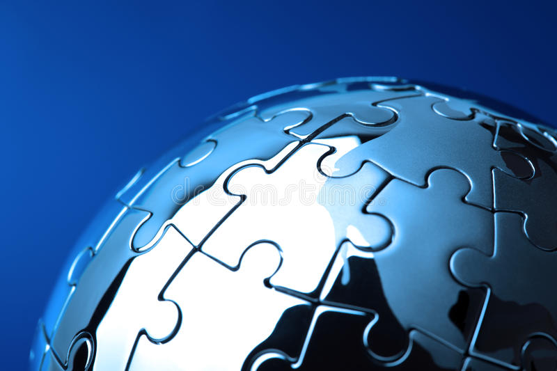 Globale Lösung lizenzfreie stockfotografie