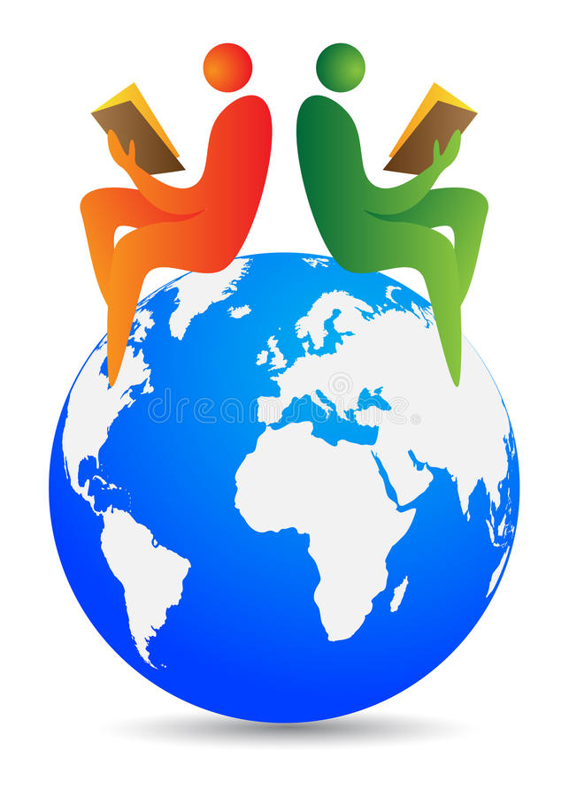 Globale lezers stock illustratie