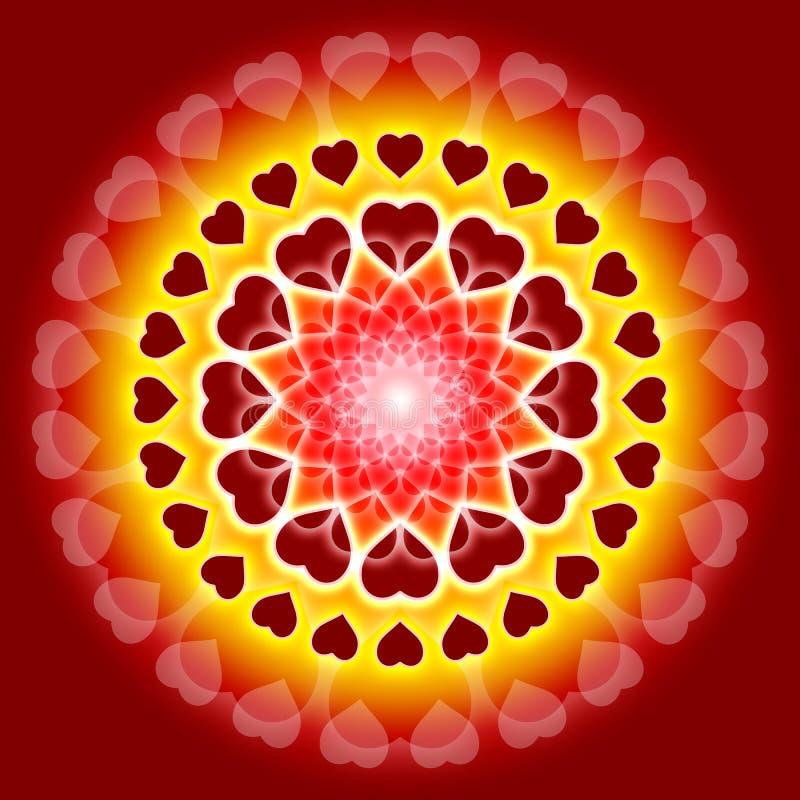 Globale Liefde Mandala - wij zijn één royalty-vrije illustratie