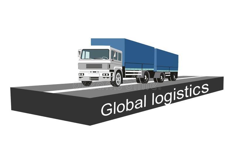 Globale logistische concepten vectorillustratie, royalty-vrije illustratie