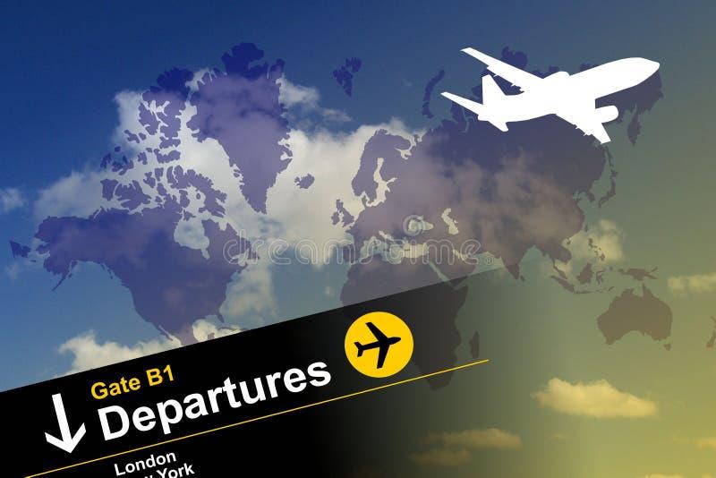Globale luchtreis stock illustratie