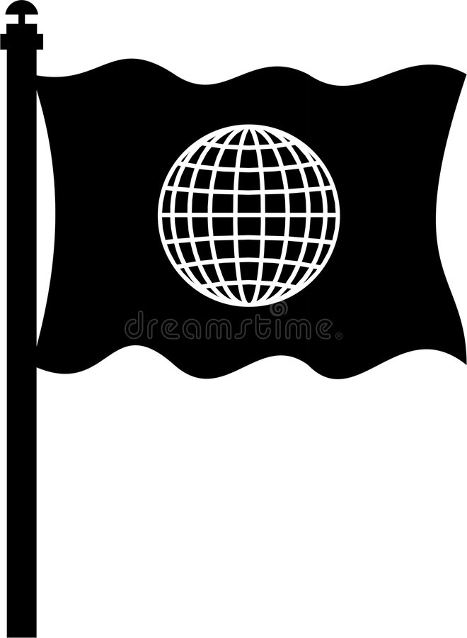 Globale Markierungsfahne stock abbildung