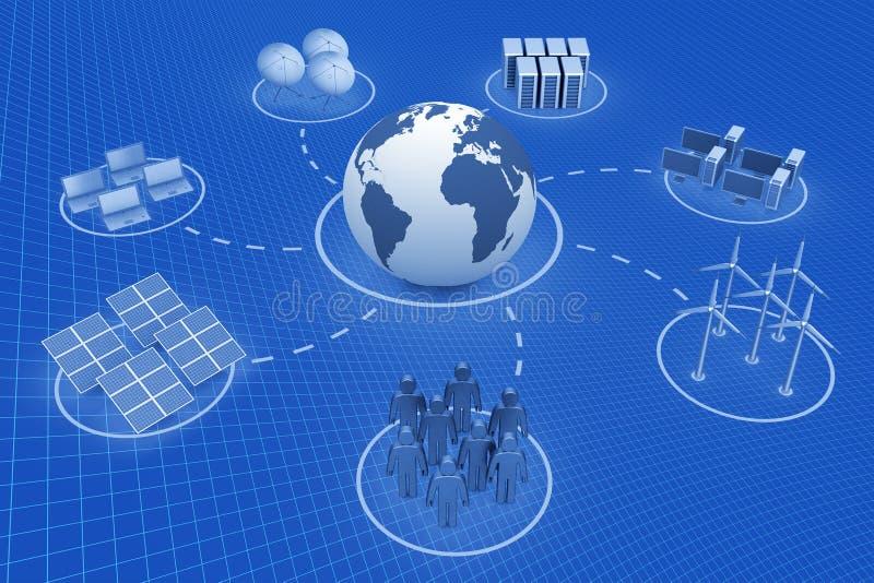 Globale mededeling royalty-vrije illustratie