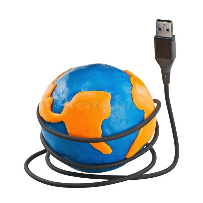 Globale mededeling royalty-vrije stock fotografie