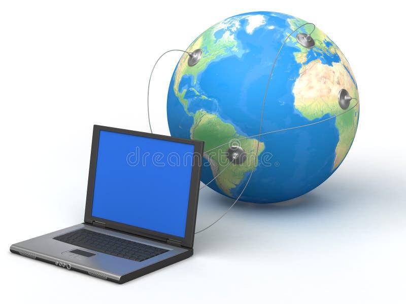Globale Mededeling vector illustratie