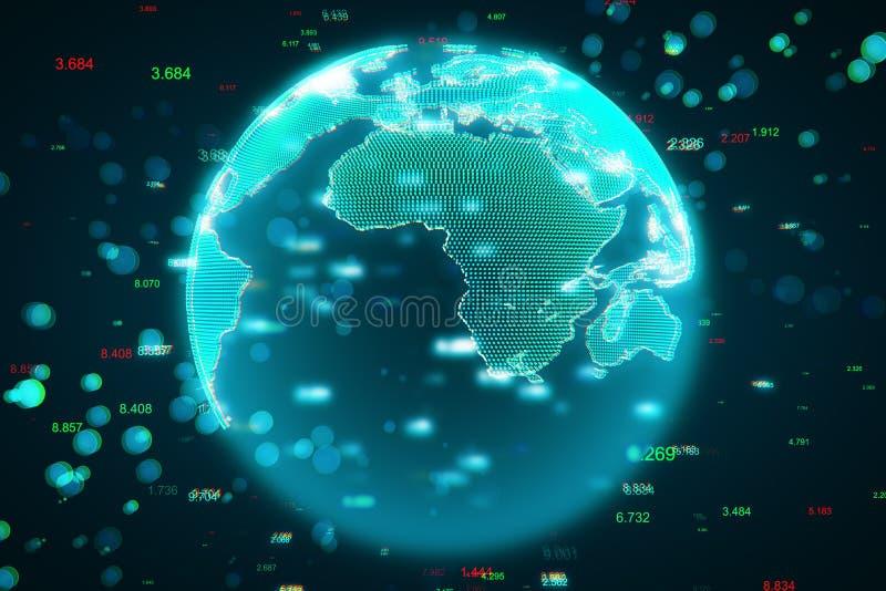 Globale mededeling en phishing concept stock afbeelding