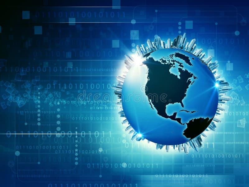 Globale Media en Informatiemaatschappij vector illustratie