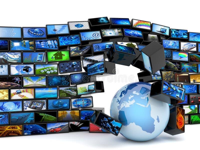 Globale Mediatechnologie lizenzfreie abbildung