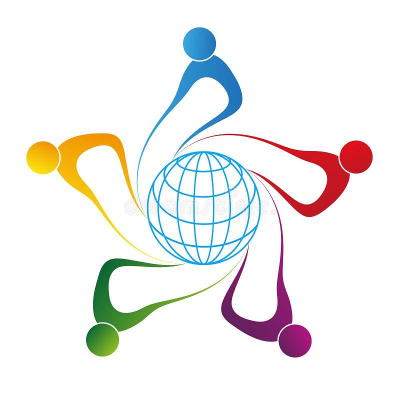 Globale mensen vector illustratie