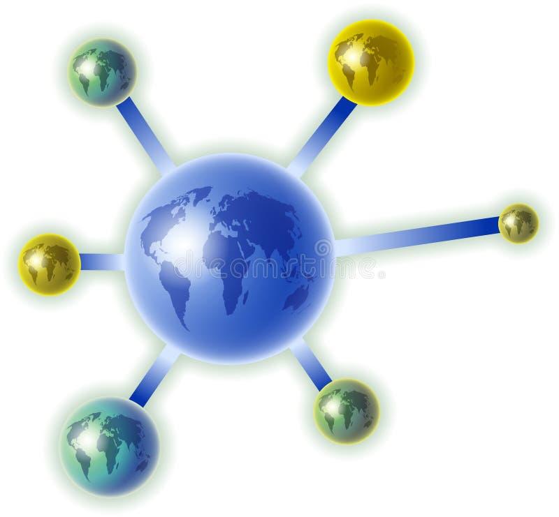Globale molecule royalty-vrije illustratie