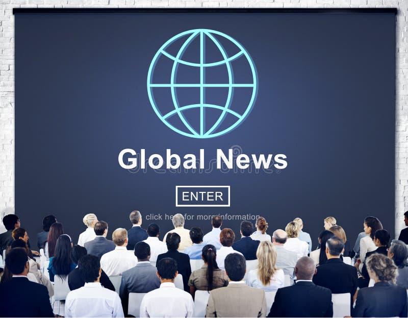 Globale Nachrichten-on-line-Technologie-Aktualisierungs-Konzept lizenzfreie stockfotos