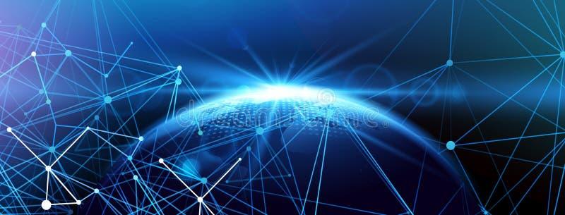 Globale netwerkachtergrond Vector royalty-vrije illustratie