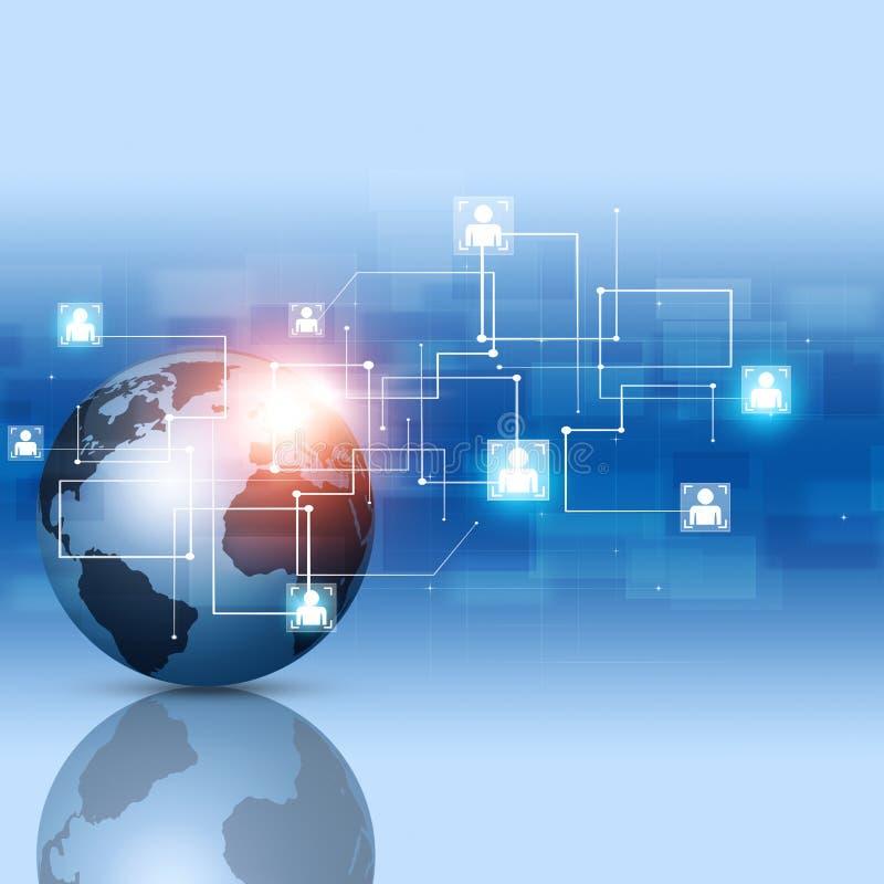 Globale Netwerkverbindingen royalty-vrije illustratie