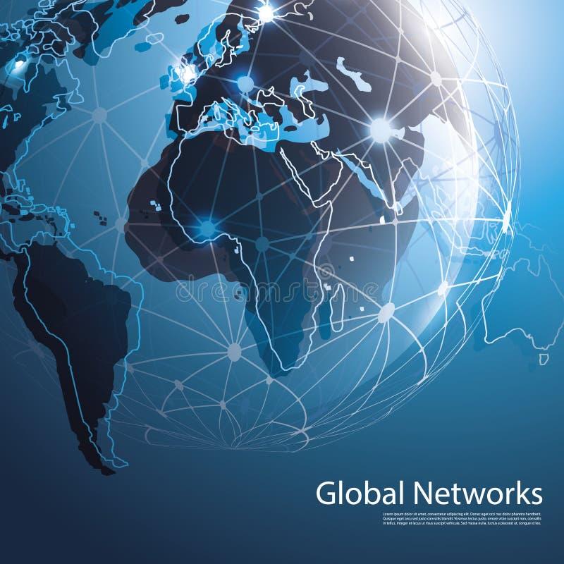 Globale Netzwerke - Vektor-Illustration für Ihr Geschäft lizenzfreie abbildung