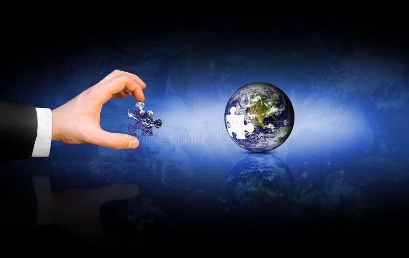 Globale Oplossing royalty-vrije stock afbeeldingen