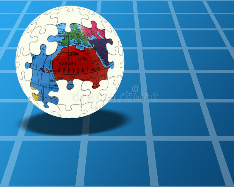 Globale Oplossing stock foto