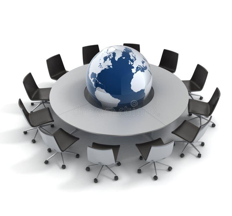 Globale politiek, diplomatie, strategie, milieu, royalty-vrije illustratie