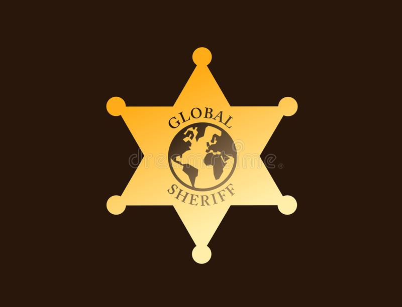 Globale sheriff vector illustratie