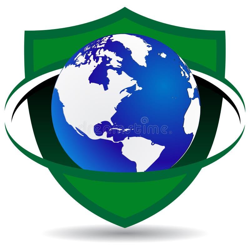 Globale Sicherheit lizenzfreie abbildung