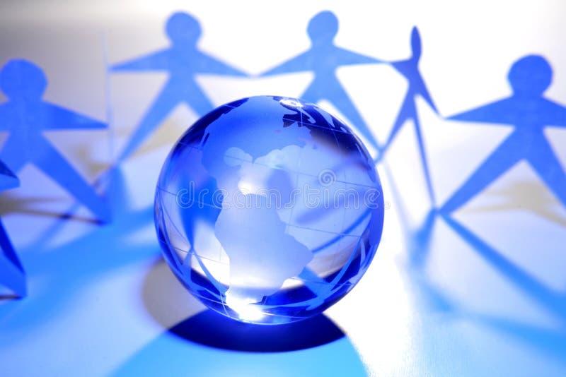 Globale Teamwork stockbilder