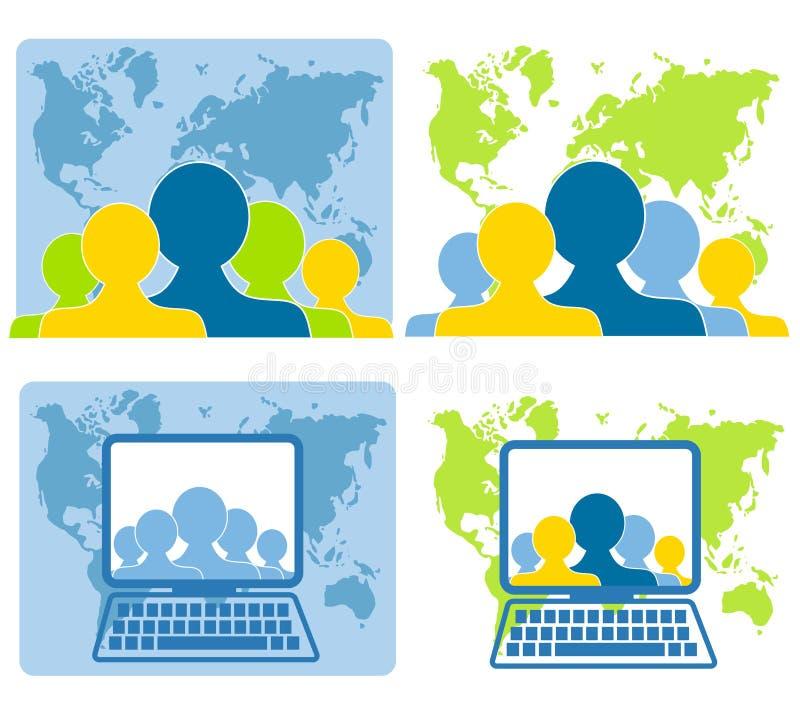 Globale Teamwork-Vernetzung lizenzfreie abbildung