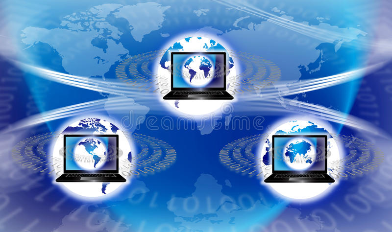 Globale Technologie stock illustratie