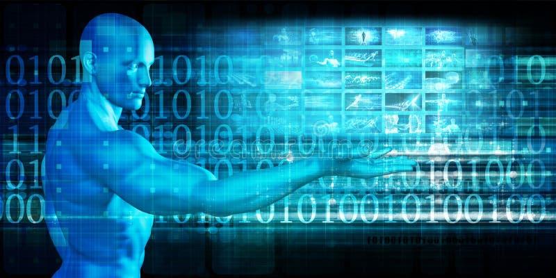 Globale Technologie-Lösungen lizenzfreie abbildung
