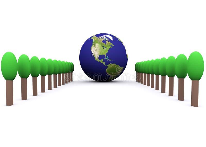 Globale Umgebung (Amerika) stock abbildung