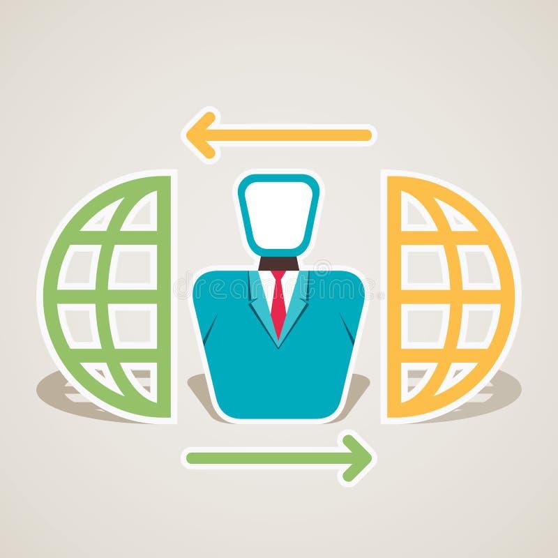 Globale verbinding van mensen royalty-vrije illustratie