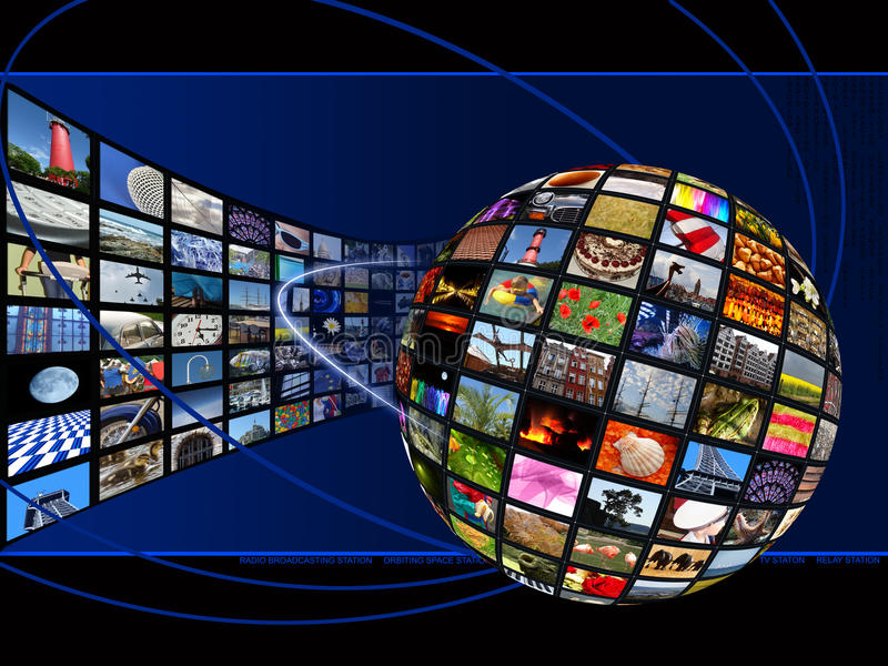 Globale Verbindung lizenzfreies stockbild