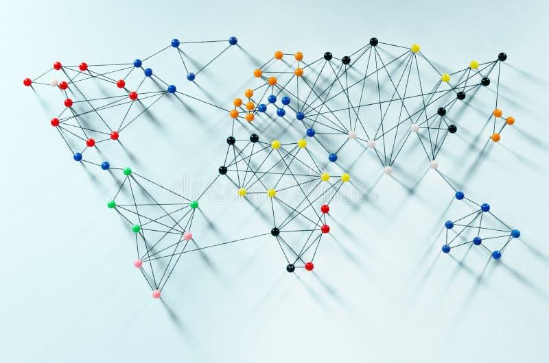 Globale Verbindungen lizenzfreies stockbild