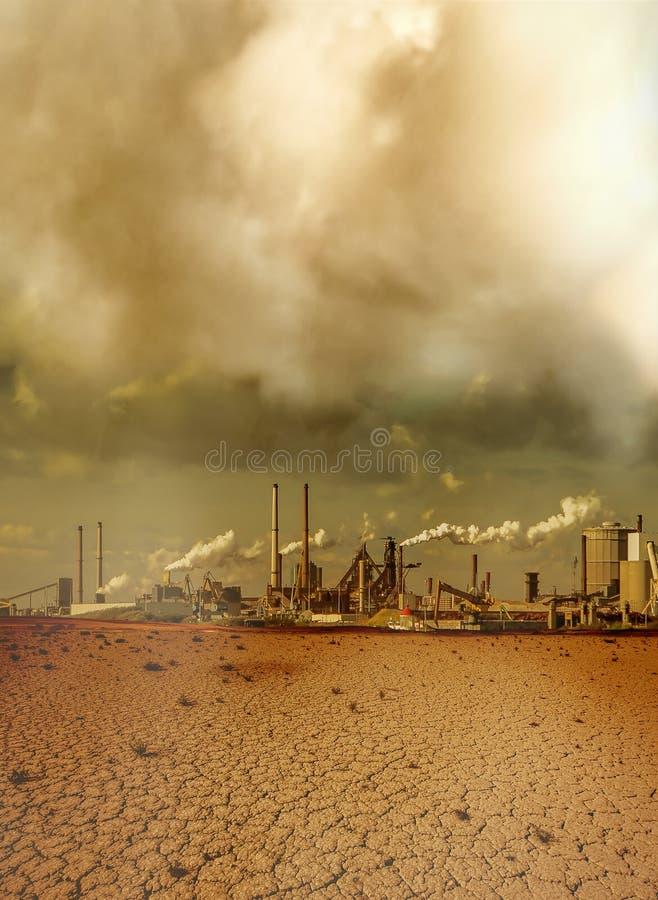Globale verontreiniging die door de industrie wordt veroorzaakt royalty-vrije stock foto's