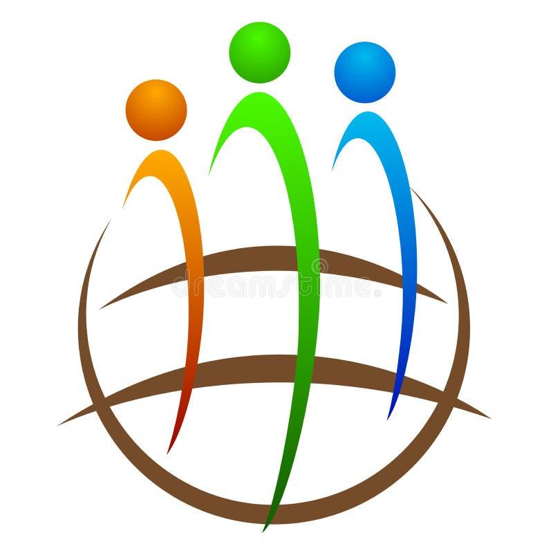 Globale Verschiedenartigkeit lizenzfreie abbildung