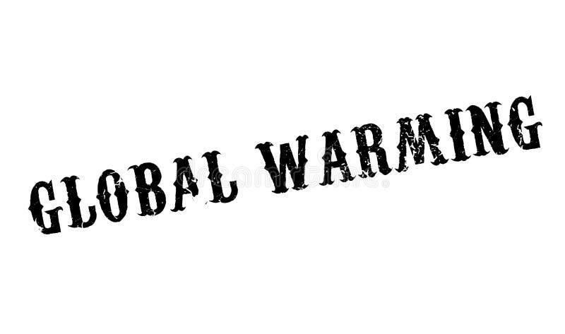 Globale Verwarmende rubberzegel vector illustratie