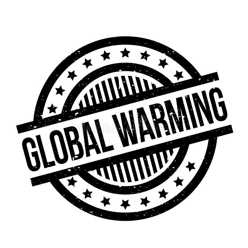 Globale Verwarmende rubberzegel royalty-vrije illustratie
