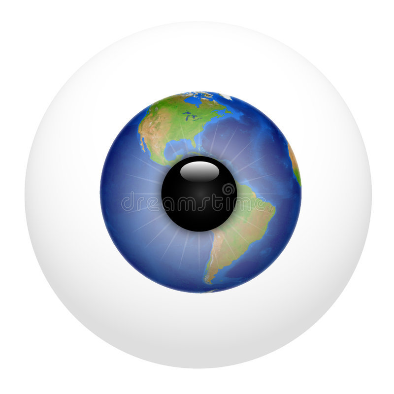 Globale Visie Amerika stock illustratie