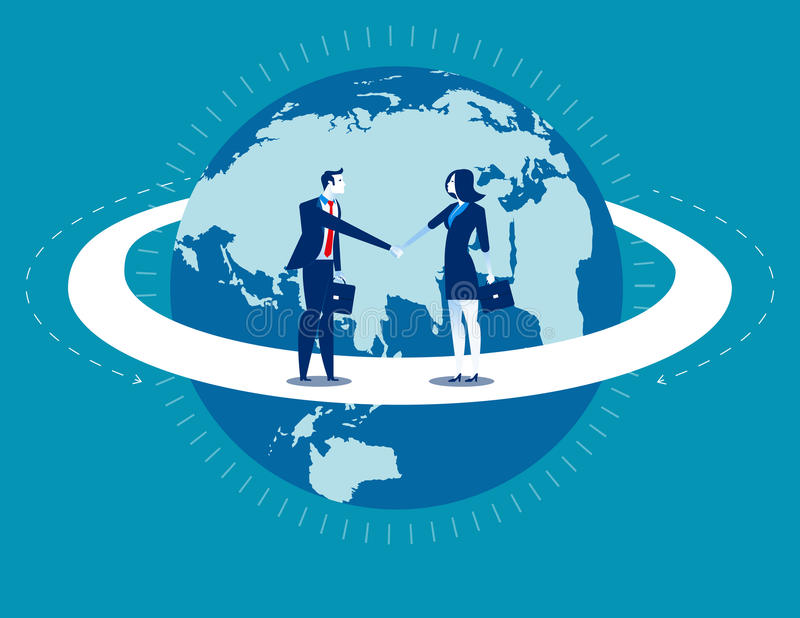 Globale Zaken Businessperson begroet vector illustratie