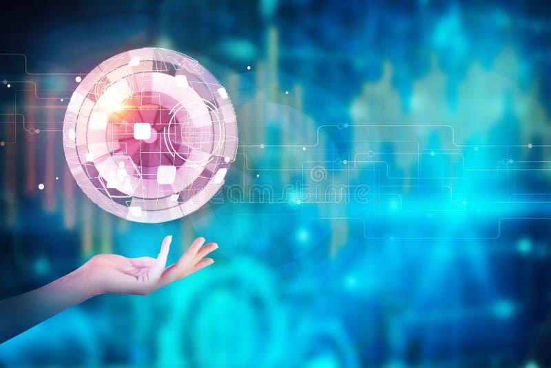 Globale zaken en toekomstig concept vector illustratie