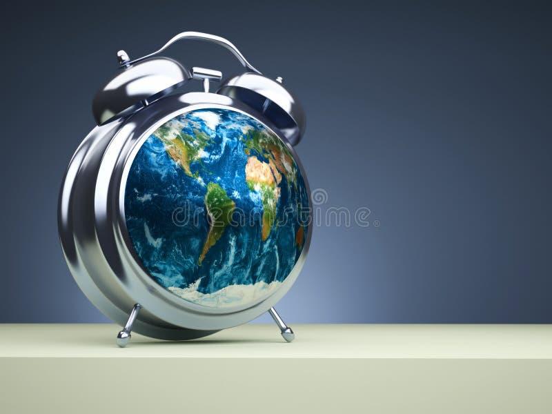 Globale Zeit stock abbildung