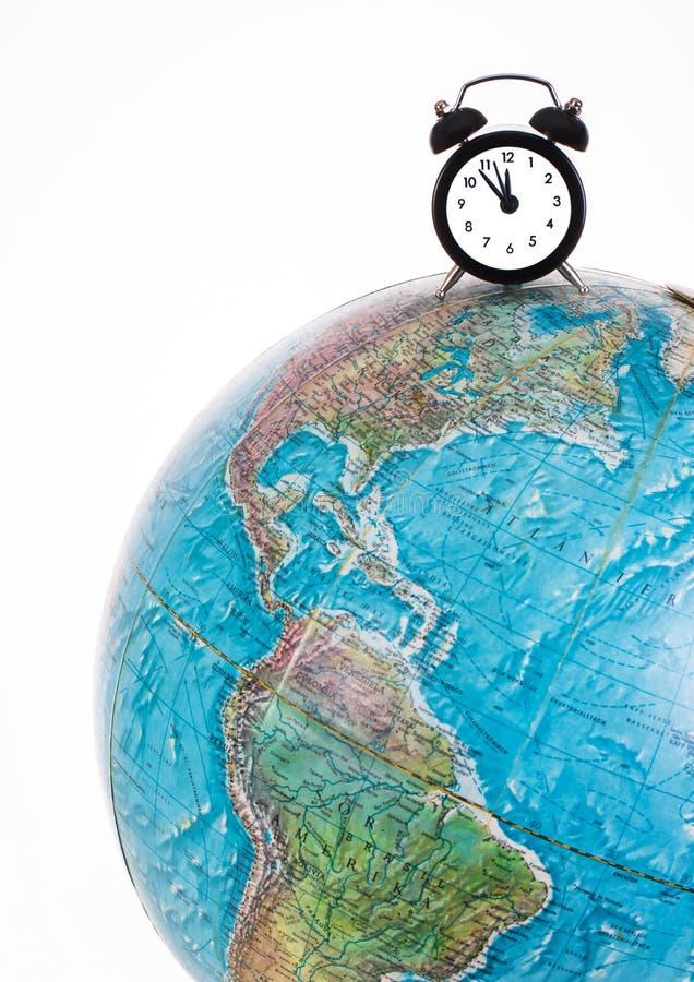 Globale Zeit vektor abbildung