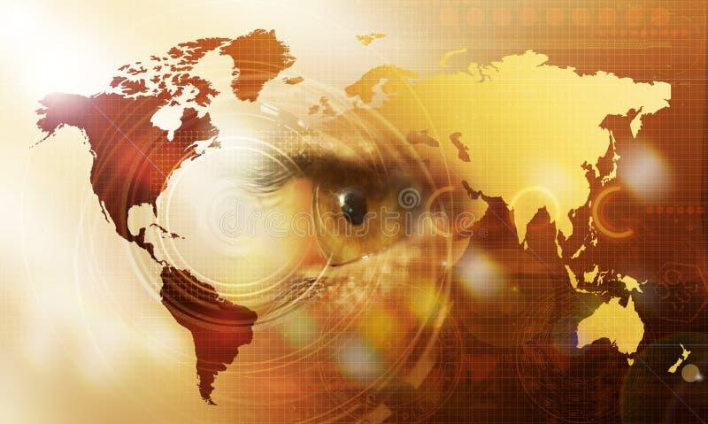 Globaler Anblick lizenzfreie abbildung