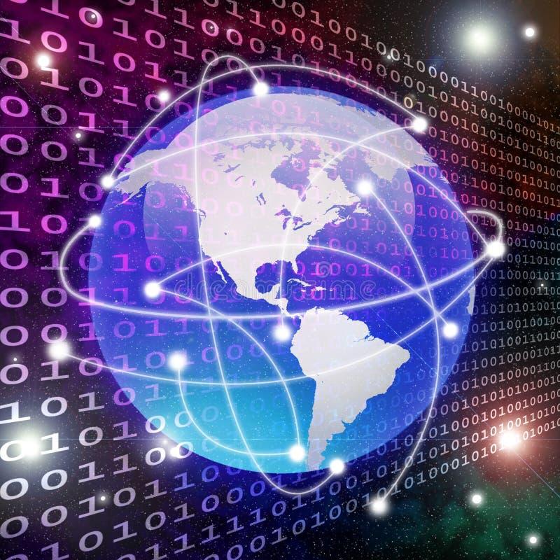 Globaler Anschluss und Datenübertragung lizenzfreie abbildung