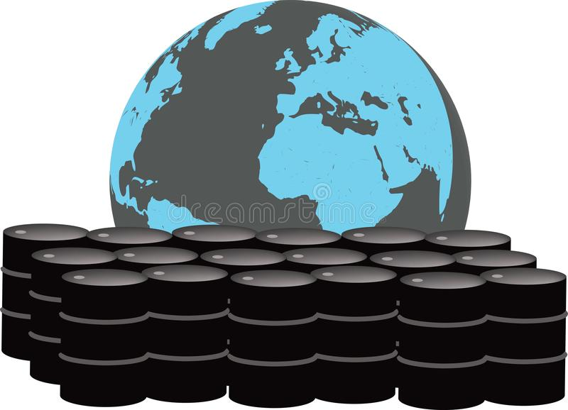 Globaler Erdölmarkt stock abbildung