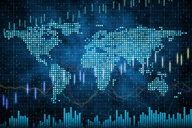 Globaler Handel und Notfall-Konzept vektor abbildung