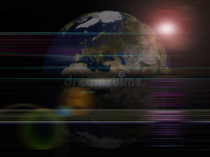 Globaler Hintergrundserien Erdeplanet stock abbildung