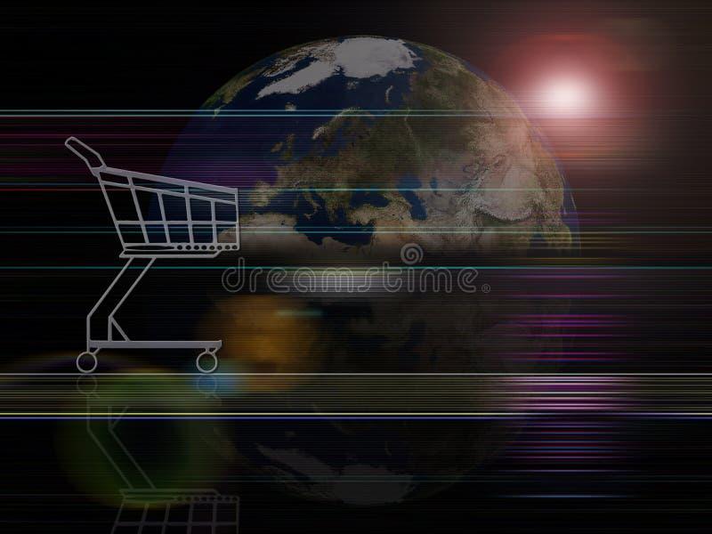Globaler Hintergrundserien Handel lizenzfreie abbildung