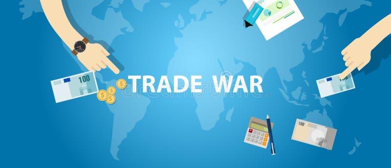Globaler International Austausch des Handelskonflikttarifgeschäfts stock abbildung